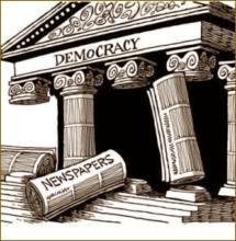 «380 λέξεις για την αυτοκαταστρεφόμενη δημοκρατία» του Βασίλη Συμεωνίδη