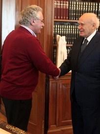 Συνάντηση αντιπροσωπείας του Δ.Σ. της ΟΛΜΕ με τον Πρόεδρο της Δημοκρατίας