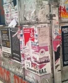 Προεκλογική αφισορύπανση στην Αθήνα