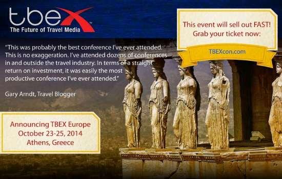 TBEX Europe-Athens 2014: Η μεγάλη ετήσια συνάντηση της διεθνούς κοινότητας ταξιδιωτικών bloggers