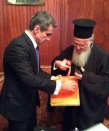 Συνάντηση Λοβέρδου με τον Οικουμενικό Πατριάρχη κ.κ. Βαρθολομαίο