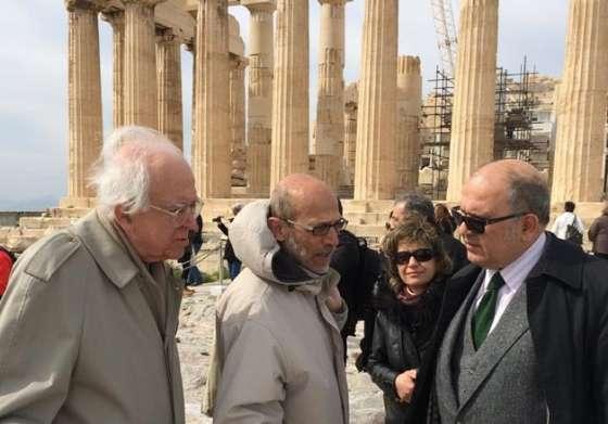 Επίσκεψη του αν. Υπουργού Πολιτισμού κ. Νίκου Ξυδάκη στην Ακρόπολη