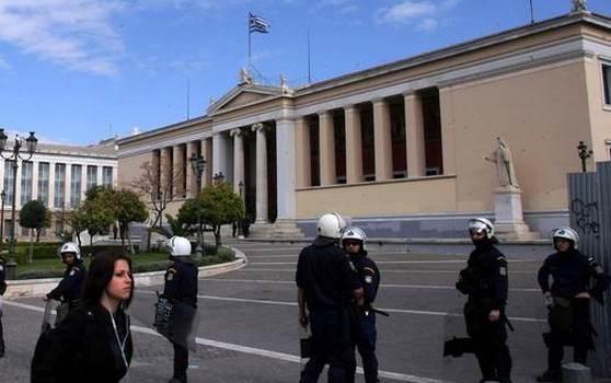 Έληξε με επέμβαση της αστυνομίας η κατάληψη στην Πρυτανεία