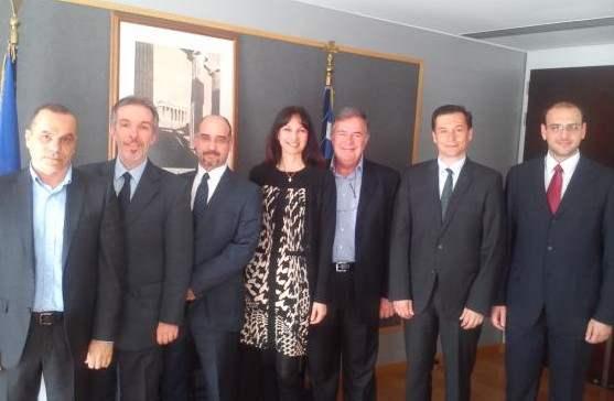 Συνάντηση της αν. υπουργού Τουρισμού με εκπροσώπους της εταιρίας Ελληνικά Υδατοδρόμια