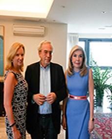 Συνάντηση του ΥΠΟΠΑΙΘ Αρ. Μπαλτά με την Πρέσβειρα Καλής Θελήσεως της UNESCO Μ. Βαρδινογιάννη