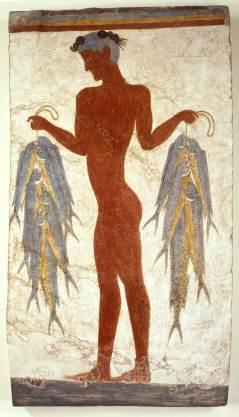 Στη Θήρα η διάσημη τοιχογραφία του «Ψαρά»