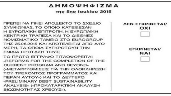 Το σχέδιο της συμφωνίας επί της οποίας έγινε το Δημοψήφισμα 5ης Ιουλίου 2015