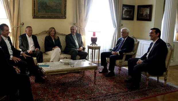 Γεύμα στο Προεδρικό Μέγαρο, προς τιμήν των Πολιτικών Αρχηγών