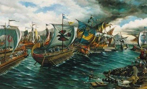 «Η ναυμαχία της Σαλαμίνας – 28 Σεπτεμβρίου 480 π.Χ.» της Αντιγόνης Καρύτσα