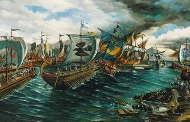 «Η ναυμαχία της Σαλαμίνας το 480 π.Χ.» της Αντιγόνης Καρύτσα