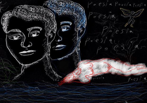 Περδικάρης Νικόλας, Poesia, 30x42cm, Ψηφιακό σε οθόνη αφής και σχεδιασμός με το δάχτυλο και το νύχι
