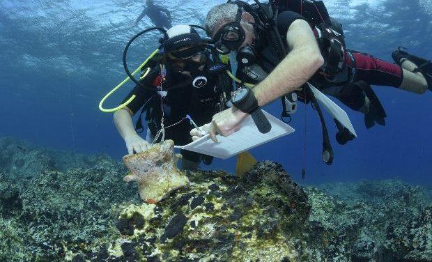 Υποβρύχια έρευνα κατά μήκος των νοτίων ακτών της Νάξου