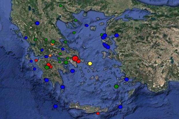 Σεισμική δόνηση 4,2 βαθμών της κλίμακας ρίχτερ στην Αττική