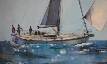 Dimitris Krestsis, Sailing Boat, Acrylics on canvas