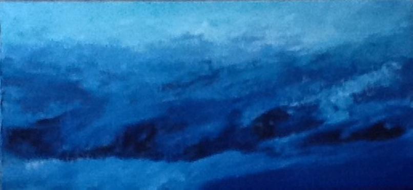 Μέρλιν Βασιλάτου Λίζα, Ωδή στη θάλασσα, 37x80cm, Λάδι σε μουσαμά