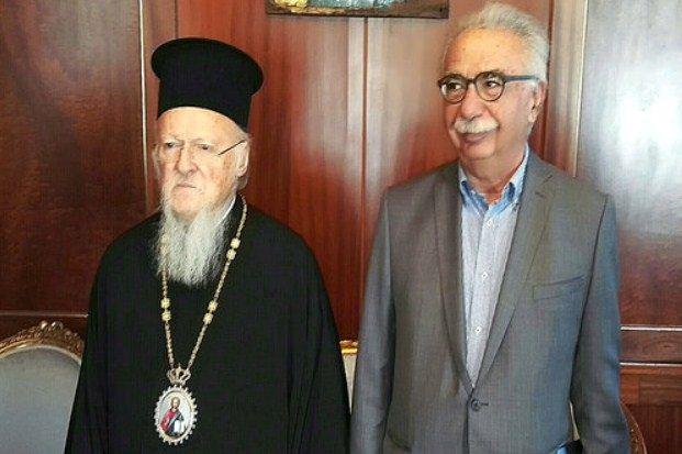 Συνάντηση του Υπουργού Παιδείας Κ. Γαβρόγλου με τον Οικουμενικό Πατριάρχη κ.κ. Βαρθολομαίο