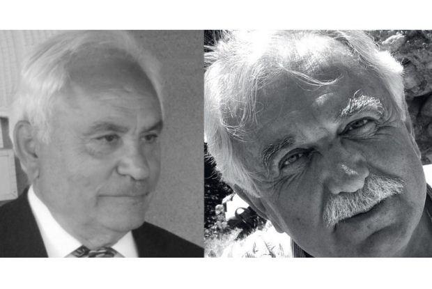 Ο αρχαιολόγος Π. Θέμελης και ο εμπνευστής του «Διαζώματος» Σ. Μπένος στον ΙΑΝΟ