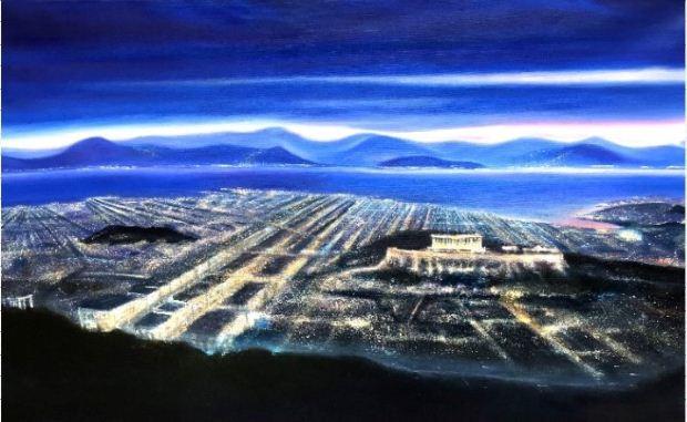 Γεωργουλάκου Παλίντα, Acropolis Dreamland, 80x130cm, Λάδι σε καμβά