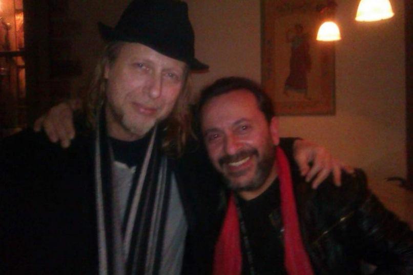 Με τον στιχουργό Χρίστο Γ. Παπαδόπουλο