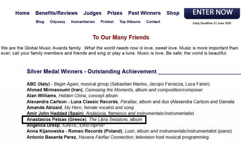 Silver Global Music Award - T. Petsas