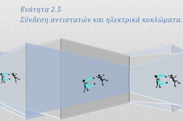 Φυσική Γ' Γυμνασίου – Θεωρία: Ενότητα 2.5, σύνδεση αντιστατών και ηλεκτρικά κυκλώματα