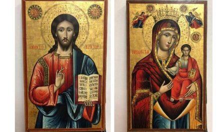 Εικόνες του Χριστού Παντοκράτορα και της Παναγίας Οδηγήτριας επαναπατρίστηκαν από τον Λίβανο