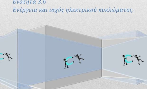 Φυσική Γ' Γυμνασίου – Θεωρία: Ενότητα 3.6, Ενέργεια και ισχύς ηλεκτρικού κυκλώματος