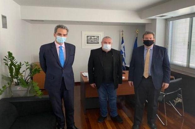 Συνάντηση του Α. Συρίγου με τον πρόεδρο της ΕΘΑΑΕ και τον πρύτανη του ΠΑΔΑ