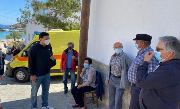 Επίσκεψη Κικίλια – Θεμιστοκλέους στα εμβολιαστικά κέντρα σε Νάξο, Ηρακλειά και Σχοινούσα