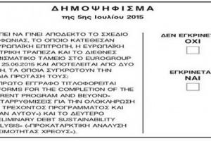 Το σχέδιο συμφωνίας επί της οποίας έγινε το Δημοψήφισμα της 5ης Ιουλίου 2015