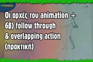 Animation: παραδείγματα για το follow through και το overlapping action