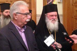 Σε καλό κλίμα η συνάντηση του Κώστα Γαβρόγλου με τον Αρχιεπίσκοπο