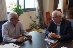 Συνάντηση K. Γαβρόγλου με τον Δήμαρχο Λαρισαίων Απόστολο Καλογιάννη