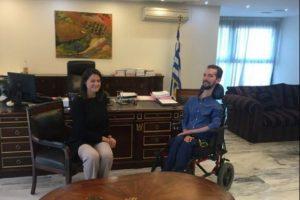 Συνάντηση Ν. Κεραμέως με τον Ευρωβουλευτή Στέλιο Κυμπουρόπουλο