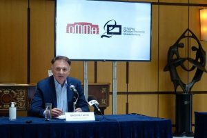 Συνέντευξη τύπου στο ΜΜΘ - Η ομιλία του προέδρου του Δ.Σ. του ΟΜΜΘ Βασίλη Γάκη