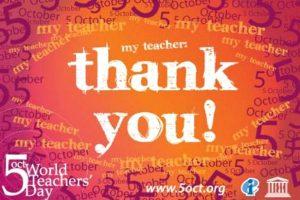Παγκόσμια Ημέρα Εκπαιδευτικών, 5 Οκτωβρίου