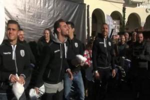 Πρωτοχρονιάτικο δρώμενο της ΠΑΕ ΠΑΟΚ στην Πλατεία Αριστοτέλους