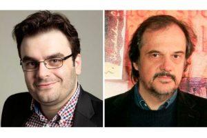 Ο υπουργός Ψηφιακής Πολιτικής Κ. Πιερρακάκης και ο συγγραφέας Α. Δοξιάδης στις «Απρόβλεπτες Συναντήσεις» του ΙΑΝΟΥ