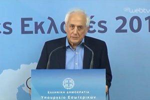 Βουλευτικές εκλογές 2019 - Η Δήλωση του Υπουργού Εσωτερικών, Αντώνη Ρουπακιώτη